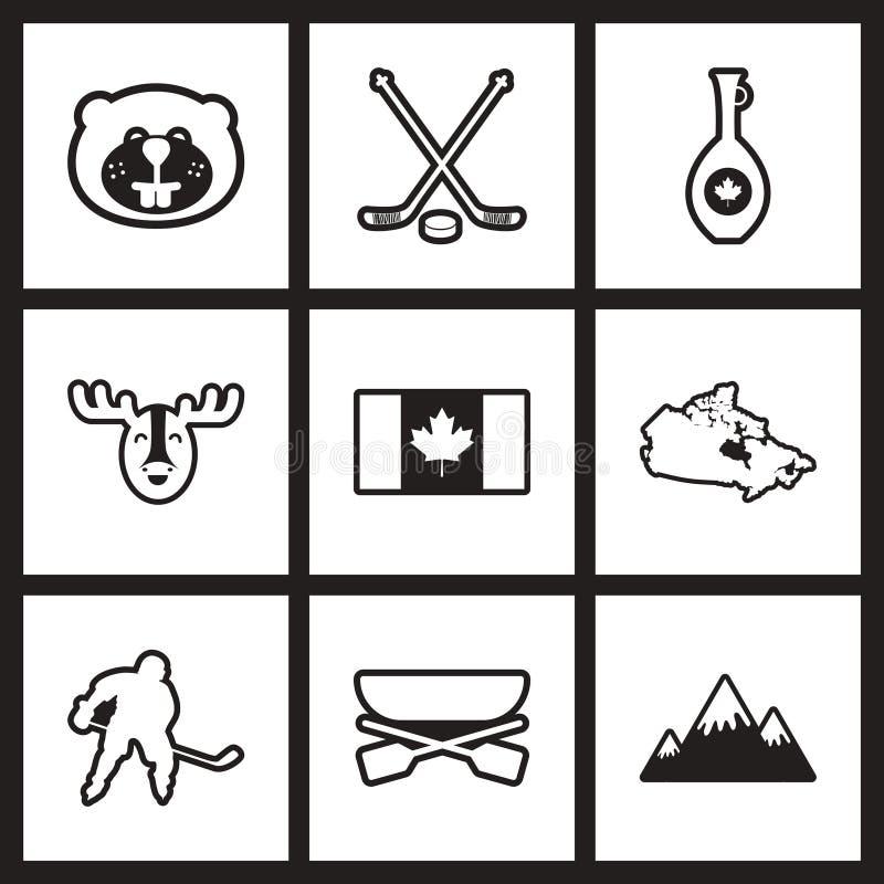 汇编时髦的黑白象加拿大 皇族释放例证