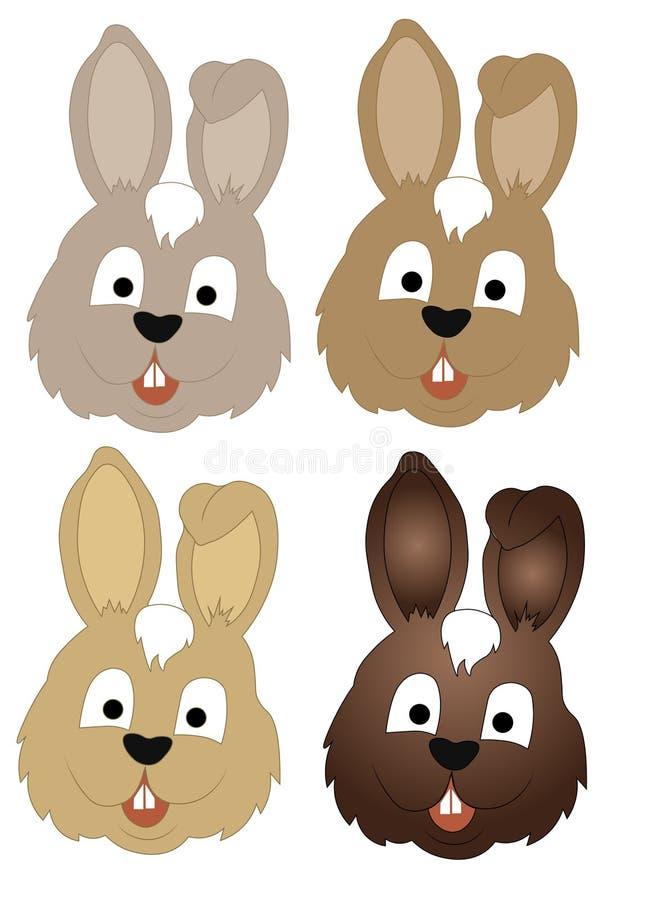 汇集兔子头 向量例证