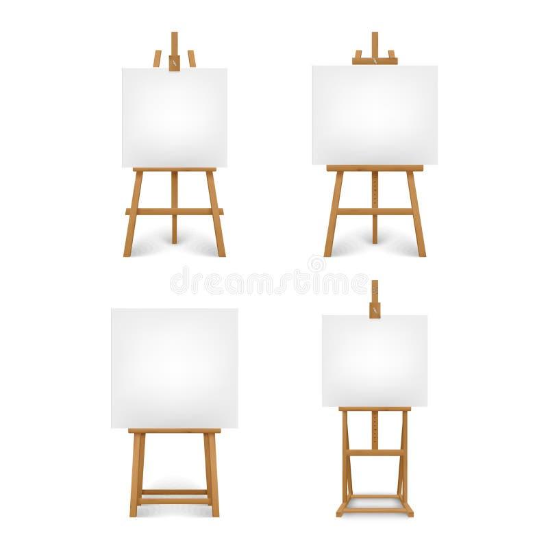 汇集另外木艺术家画架模板 向量例证