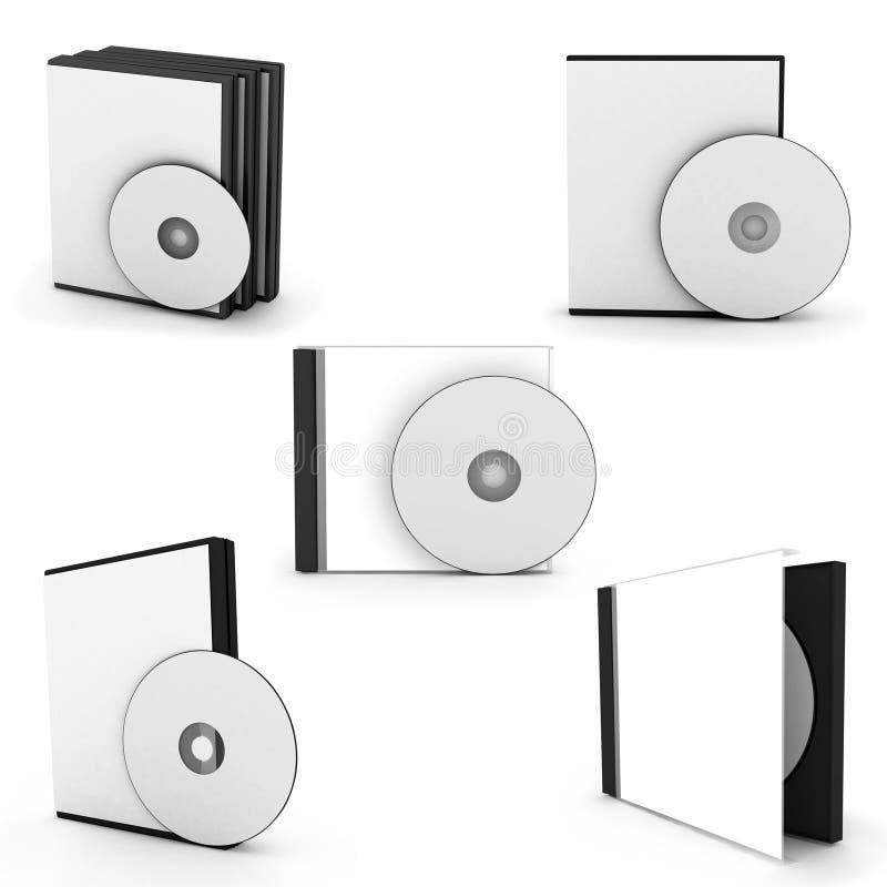 汇集cd箱子 库存例证