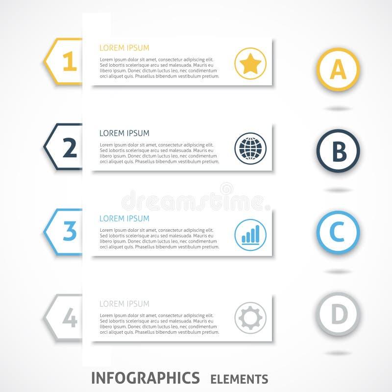 汇集infographics元素 五颜六色的箭头 皇族释放例证