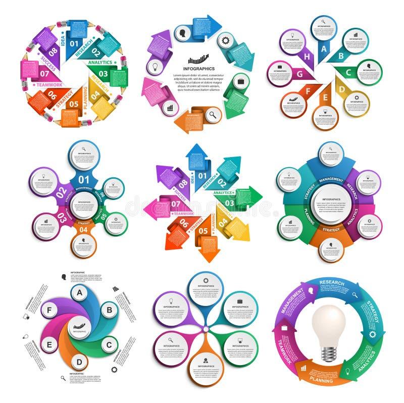 汇集infographics 背景设计要素空白四的雪花 企业介绍或信息横幅的Infographics 向量例证
