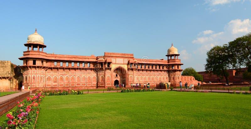 贾汉吉尔宫殿,阿格拉堡垒 阿格拉,北方邦 印度 免版税库存照片