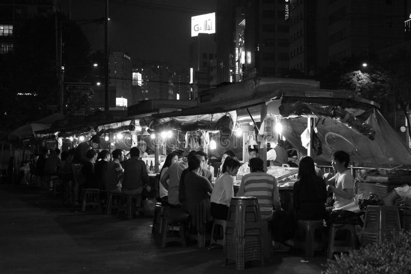 汉城在夜之前 免版税图库摄影