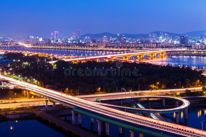 汉城市夜 图库摄影