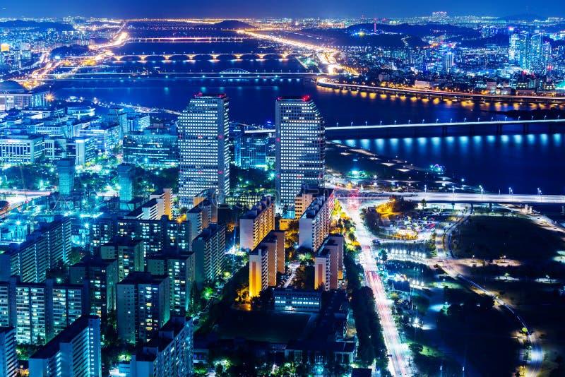 汉城街市都市风景  图库摄影