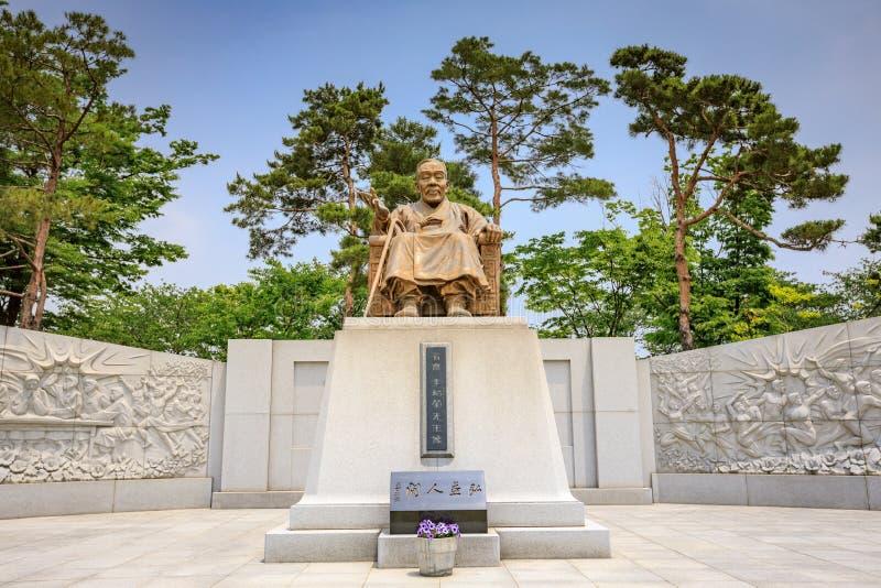 汉城,韩国-李Siyeong,恶习雕象首先presiden 免版税库存照片
