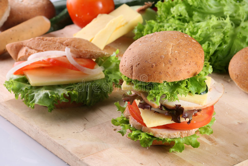 汉堡三明治 库存照片
