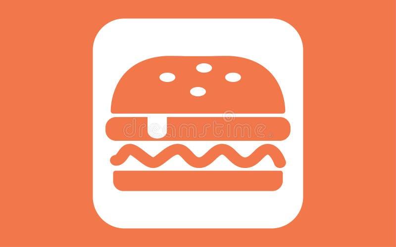 汉堡传染媒介象标志标志 向量例证