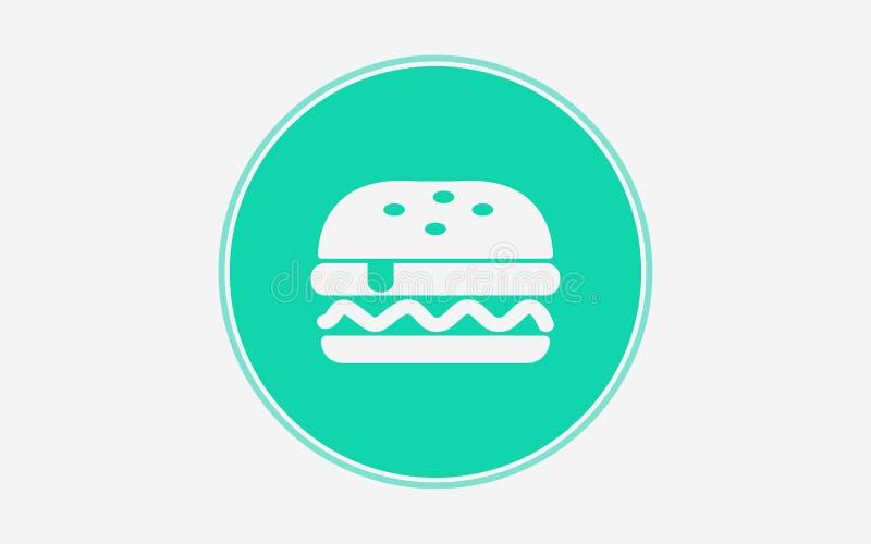 汉堡传染媒介象标志标志 库存例证