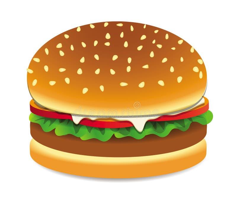 汉堡传染媒介 向量例证