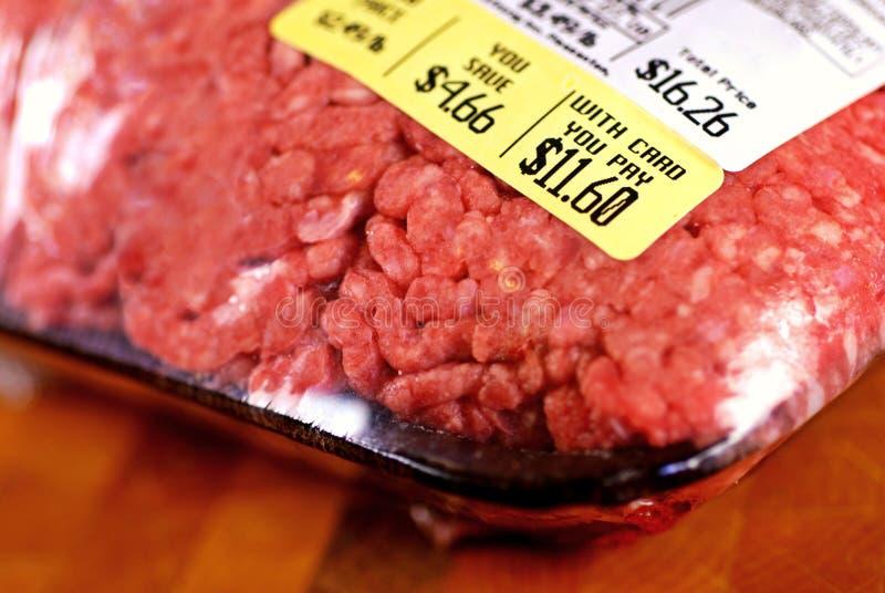 汉堡包价格 免版税库存照片