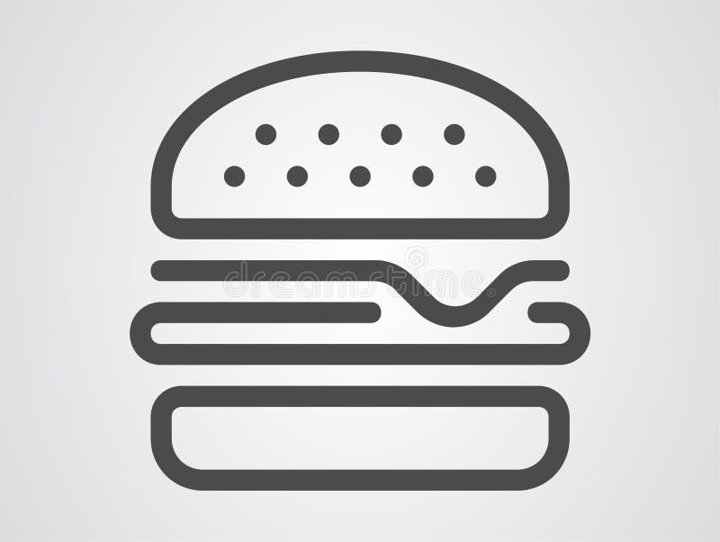 汉堡包传染媒介象标志标志 皇族释放例证