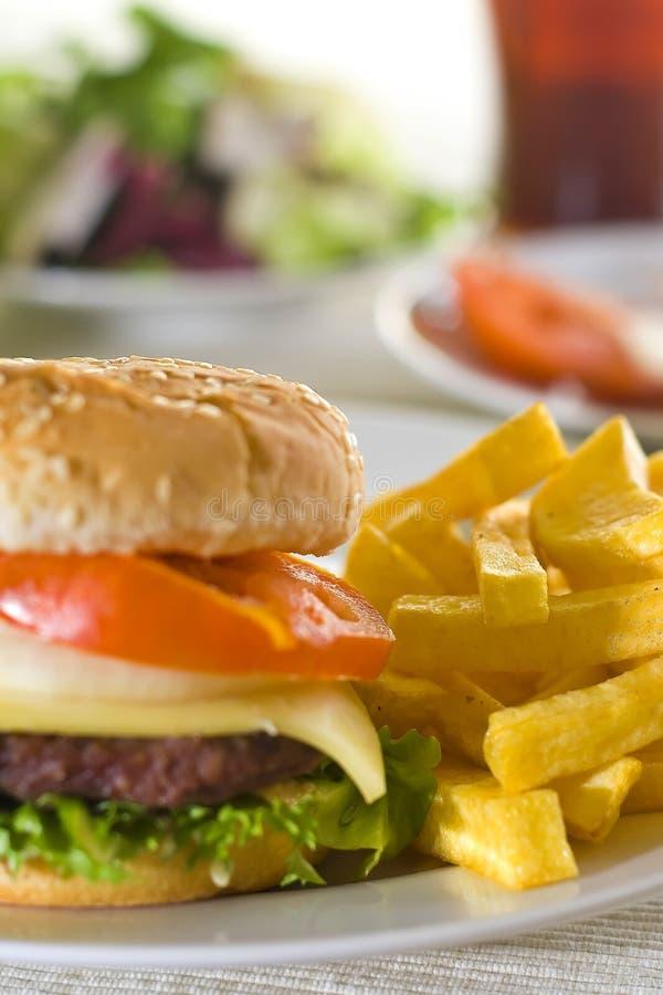 汉堡包水多的肉 免版税库存图片