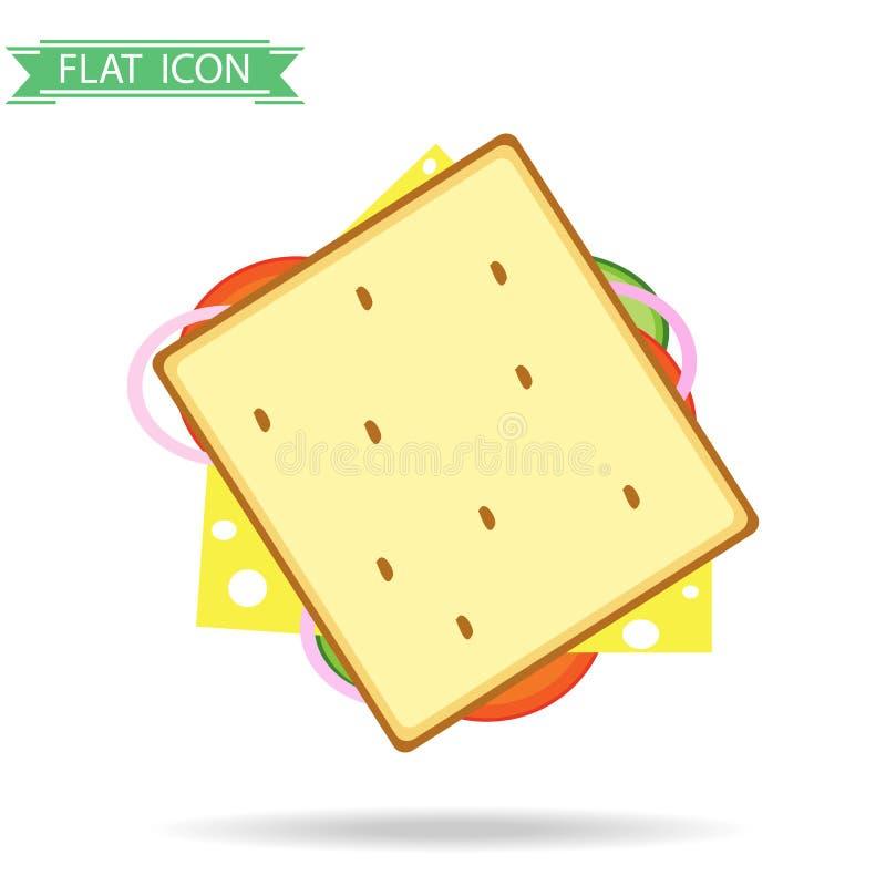 汉堡包用香肠和乳酪 向量例证