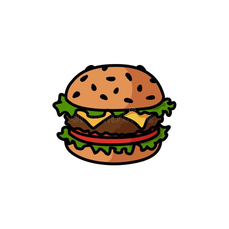 汉堡包的例证 库存例证