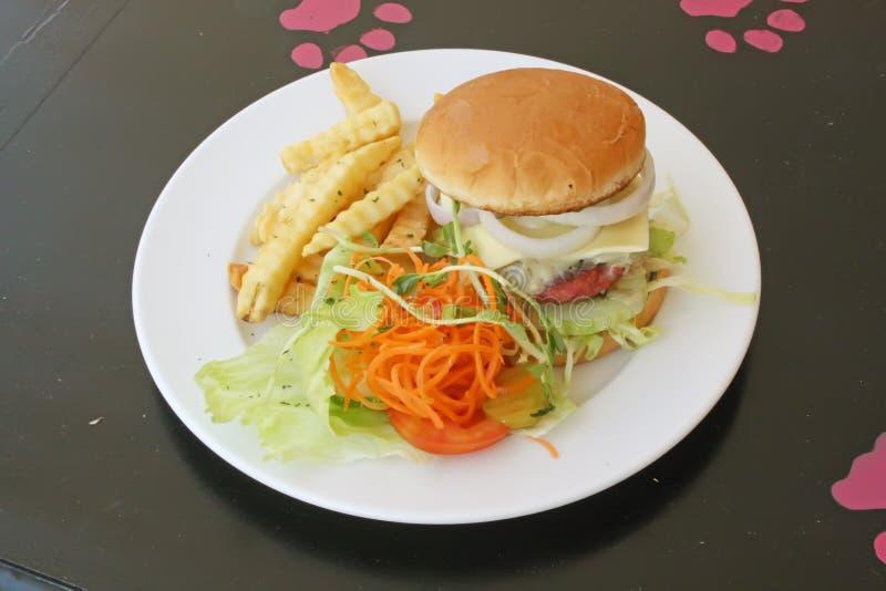 汉堡包膳食集 库存图片