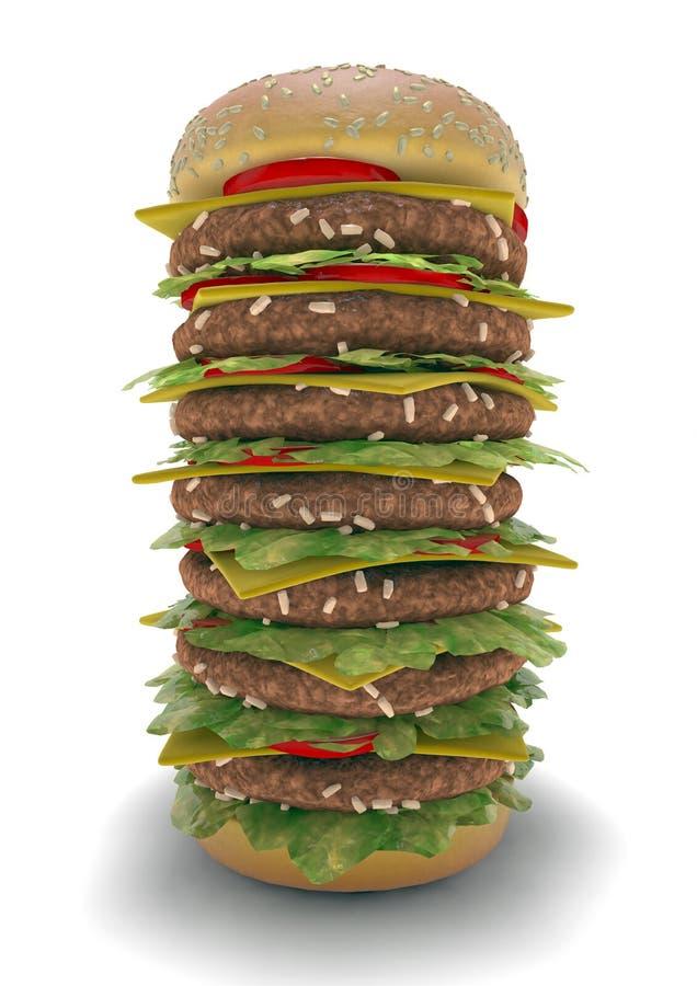 汉堡包膳食XXL 皇族释放例证