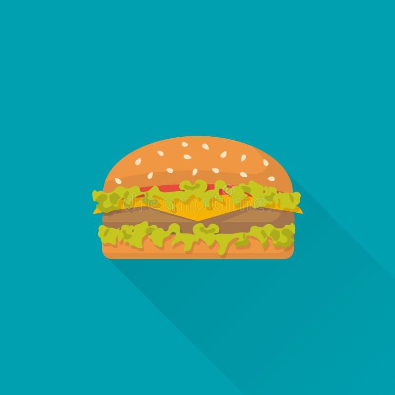 汉堡包象传染媒介 向量例证