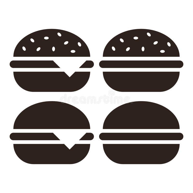 汉堡包象集合 库存例证