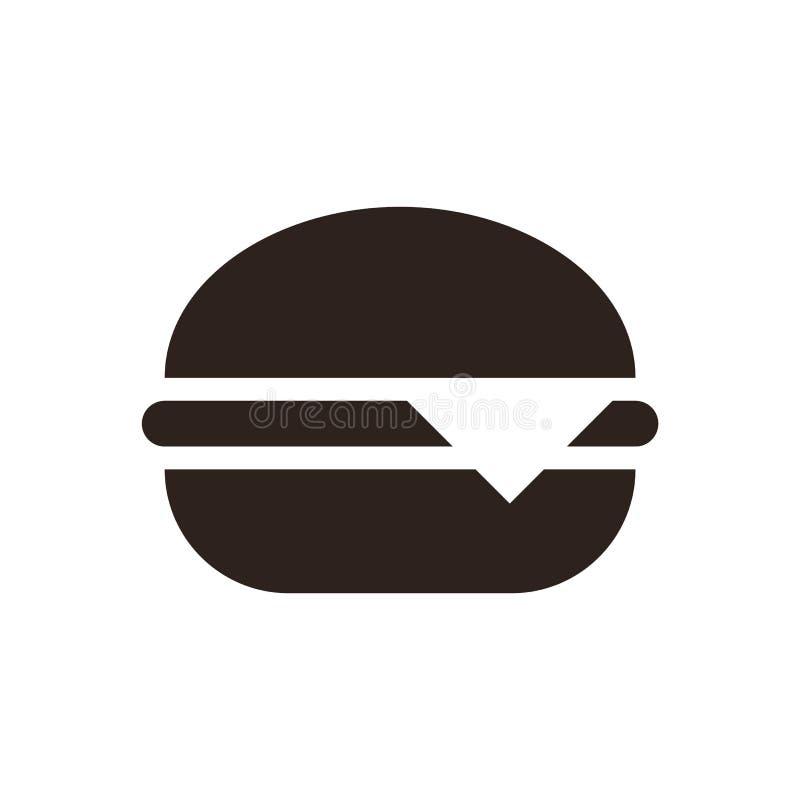 汉堡包象 库存例证