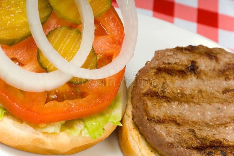 汉堡包野餐 免版税库存照片