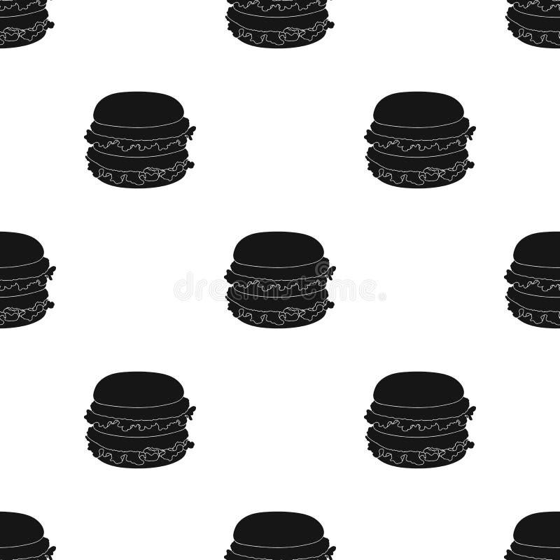 汉堡包,在黑样式的唯一象 汉堡包传染媒介标志股票例证网 皇族释放例证