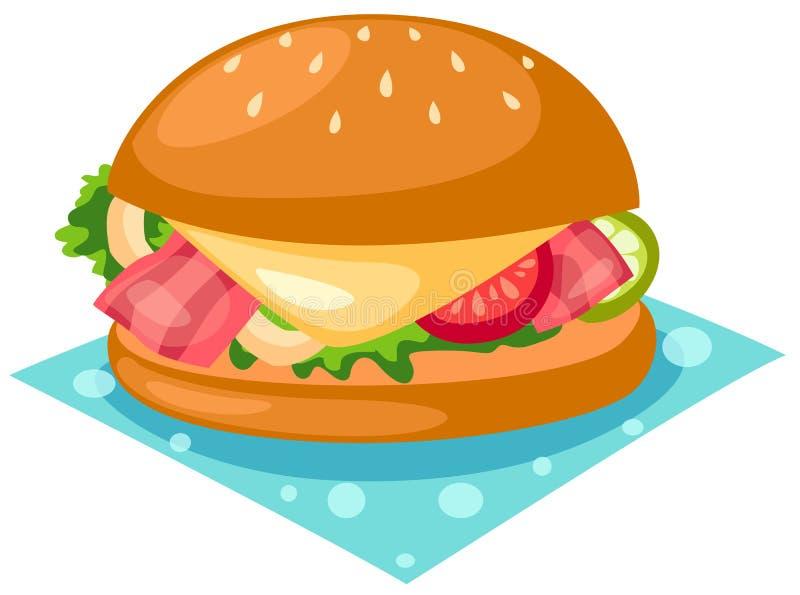 汉堡包 库存例证