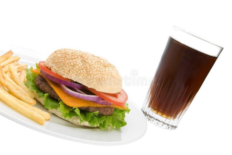 汉堡可乐 图库摄影