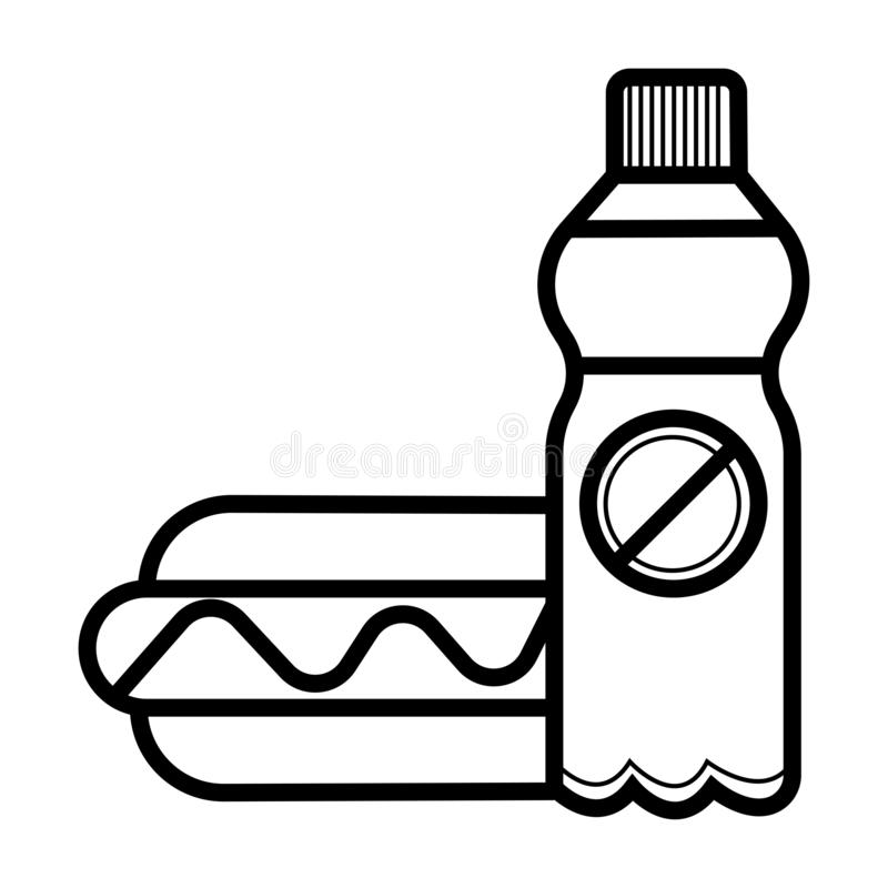 汉堡和饮料象 向量例证