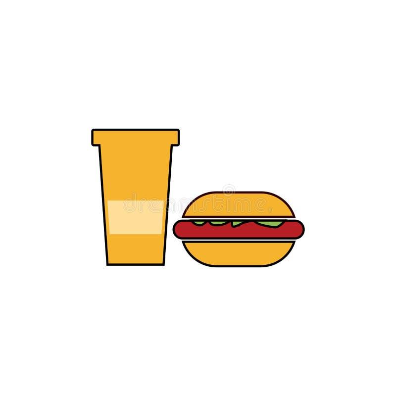 汉堡商标设计传染媒介,象食物,乳酪 向量例证