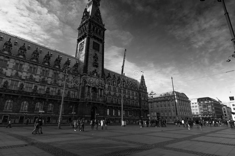 汉堡城镇厅 库存图片