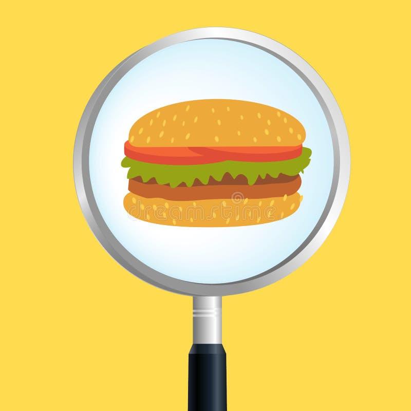 汉堡扩大化 向量例证
