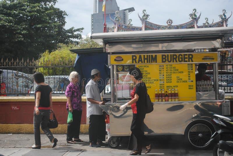 汉堡摊位 库存照片