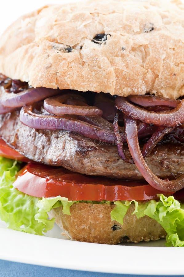 汉堡牛排 免版税库存照片