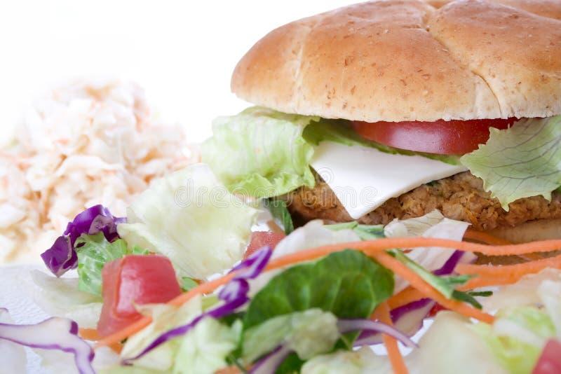 汉堡素食者 免版税库存照片
