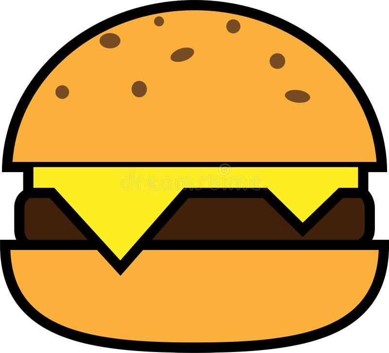 汉堡色的象用乳酪和剁 库存例证