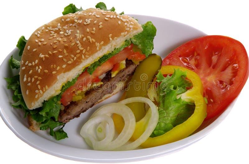 汉堡蔬菜 库存照片