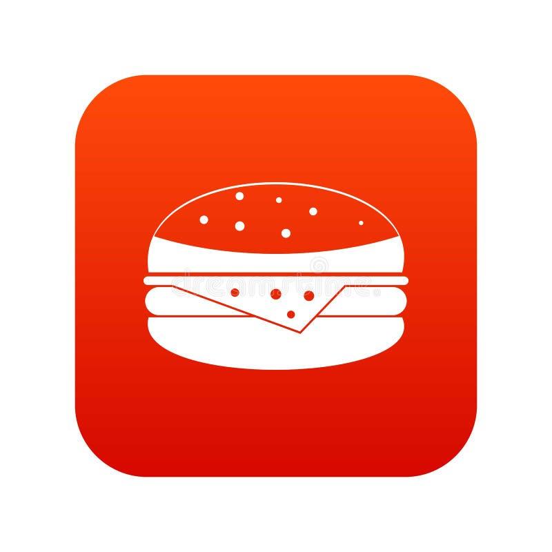 汉堡象数字式红色 皇族释放例证