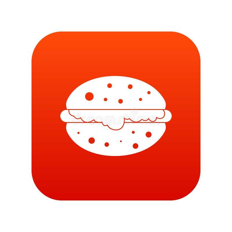 汉堡象数字式红色 向量例证