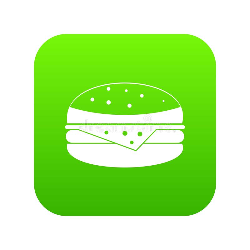 汉堡象数字式绿色 向量例证