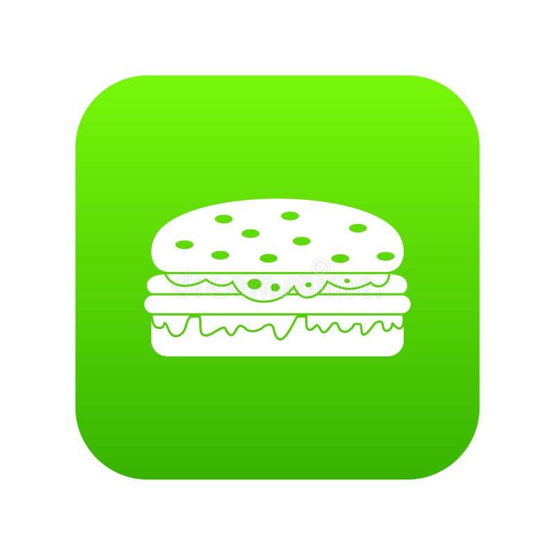 汉堡象数字式绿色 库存例证