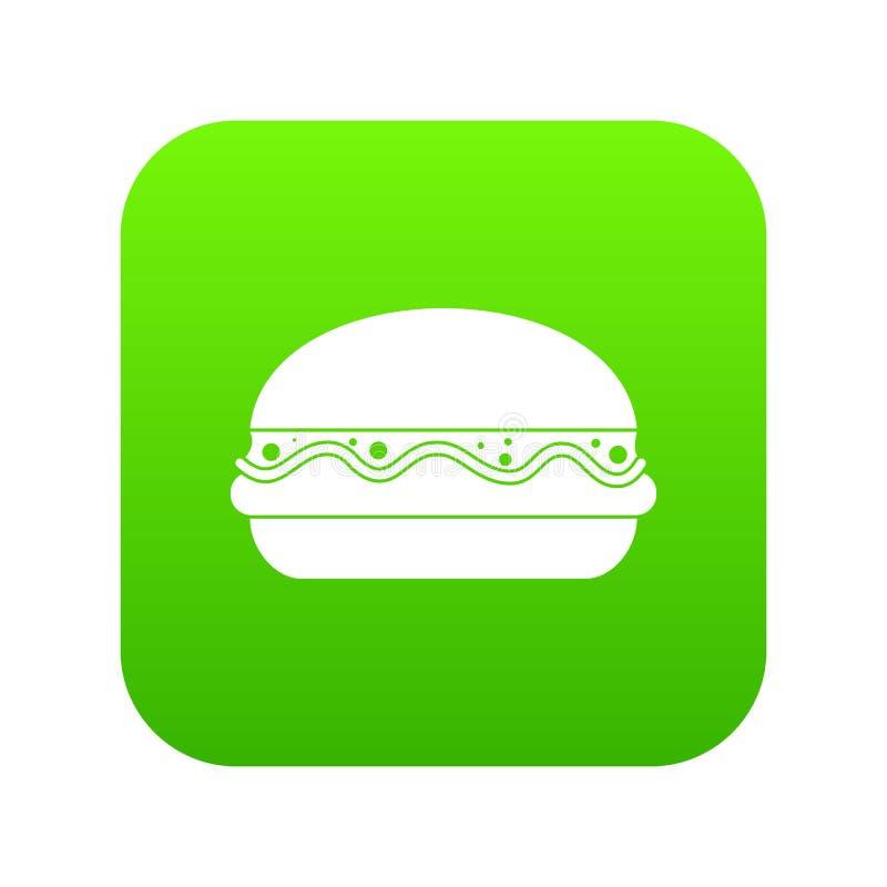 汉堡象数字式绿色 皇族释放例证
