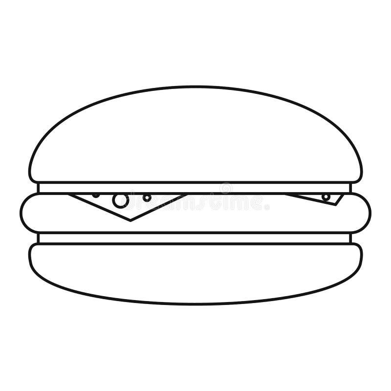 汉堡象概述 向量例证