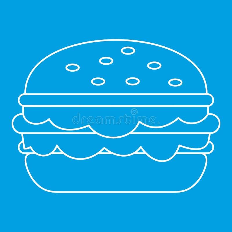 汉堡象概述 库存例证