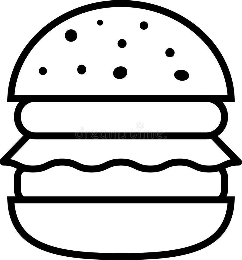 汉堡象用沙拉和两剁 库存例证