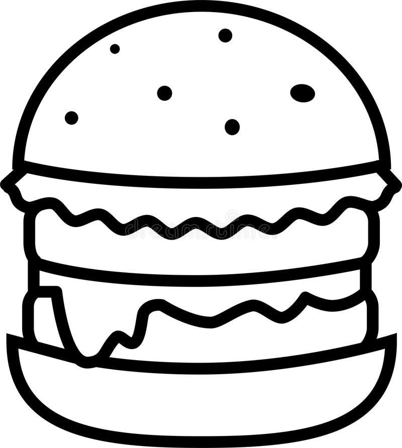 汉堡象用沙拉用乳酪和两剁 皇族释放例证