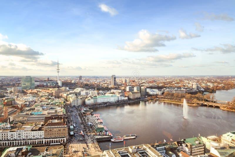 汉堡都市风景 免版税库存图片