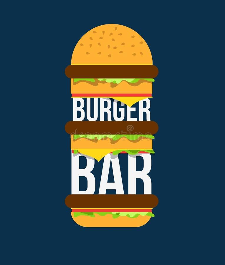 汉堡酒吧 库存例证