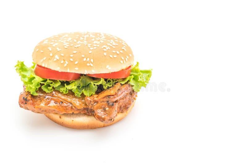 汉堡鸡烤了 库存图片